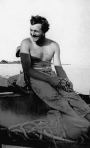 Hemingway fishing, 1928